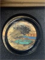 AUTHENTIC MING DYNASTY EMBROIDERY W PAPERWEIGHT