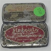 VTG MELOIDS LICORICE ENGLISH TIN