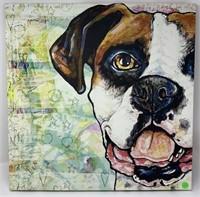 LARGE CANVAS DOG ART