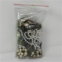 LARGE BAG OF MISC COSTUME JEWELRY