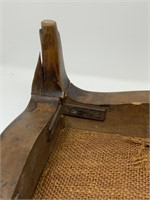 ANTIQUE EMBROIDERED FOOT STOOL
