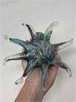 MURANO ART GLASS STYLE OCTOPUS FIGURINE