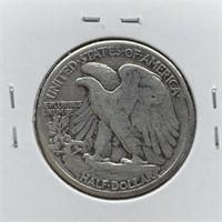 1942 WALKING LIBERTY SILVER HALF DOLLAR