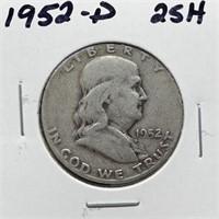 1952-D FRANKLIN SILVER HALF DOLLAR