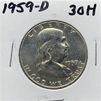 1959-D FRANKLIN SILVER HALF DOLLAR