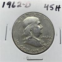 1962-D FRANKLIN SILVER DOLLAR