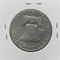 1953-D FRANKLIN SILVER DOLLAR