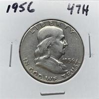 1956 FRANKLIN SILVER DOLLAR