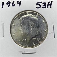1964 JFK GEM SILVER HALF DOLLAR