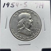 1954-S FRANKLIN SILVER HALF DOLLAR