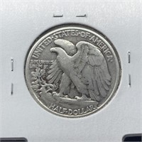 1945-D WALKING LIBERTY SILVER HALF DOLLAR