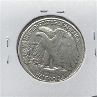 1947-D WALKING LIBERTY SILVER HALF DOLLAR
