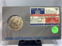 1974 BICENTENNIAL 1ST DAY COVER
