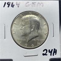 1964 GEM JFK SILVER HALF DOLLAR