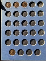 4 ALBUM LINCOLN PENNY BOOK 1909 VDB MORE