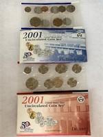 2001 P & D UNC COIN SET