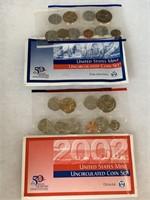 2002 P & D UNC COIN SET