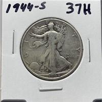1944-S WALKING LIBERTY SILVER HALF DOLLAR