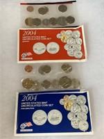 2004 P & D UNC COIN SET