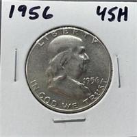1956 FRANKLIN SILVER HALF DOLLAR