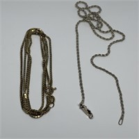 STERLING SILVER NECKLACE/ BROKEN CHAIN