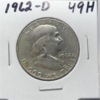 1962-D FRANKLIN SILVER HALF DOLLAR