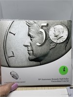 50TH ANNIV JFK UNC COIN SET