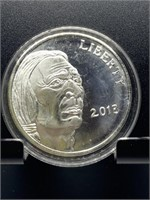 2013 1OZ INDIAN / BUFFALO SILVER BULLION ROUND