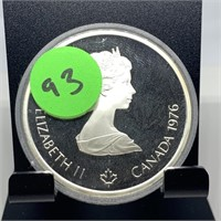 1976 OLYMPIC CANADIAN SILVER $10 PROOF COIN
