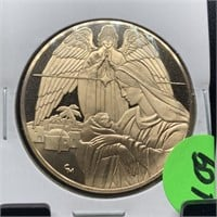 FRANKLIN MINT BRONZE HOLIDAY MEDALLION COIN