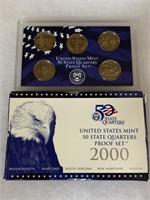 2000 PROOF COIN SET QUARTERS