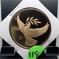 FRANKLIN MINT BRONZE PROOF HOLIDAY COIN
