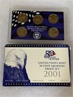 2001 PROOF COIN SET QUARTERS