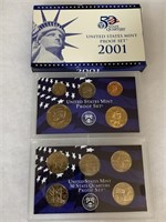 2001 PROOF COIN SET