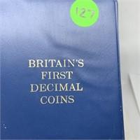 BRITAINS 1ST DECIMAL UK COIN SET