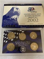 2002 PROOF COIN SET QUARTERS