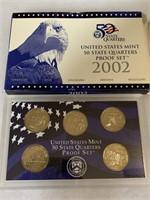 2002 PROOF COIN SET QUARTERS