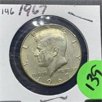 1967 SILVER JFK HALF DOLLAR