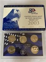 2003 PROOF COIN SET QUARTERS