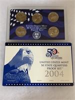 2004 PROOF COIN SET QUARTERS