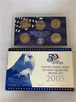 2005 PROOF COIN SET QUARTERS