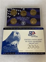 2006 PROOF COIN SET QUARTERS