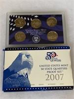 2007 PROOF COIN SET QUARTERS