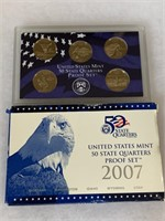 2007 PROOF COIN SET QUARTERS