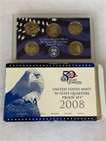2008 PROOF COIN SET QUARTERS