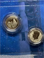 2PC APOLLO 11 SILVER COIN SET REV PROOF