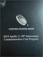 2019 APOLLO 50TH ANN COMM 5OZ SILVER BULLION