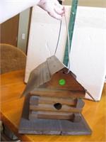 """Log Cabin Bird House 11&1/2"""" x 9&1/2"""" x 9"""""""