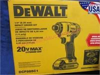 New DeWalt 20-volt impact driver kit - nice