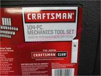 New Craftsman 104pc mechanics tool set - nice